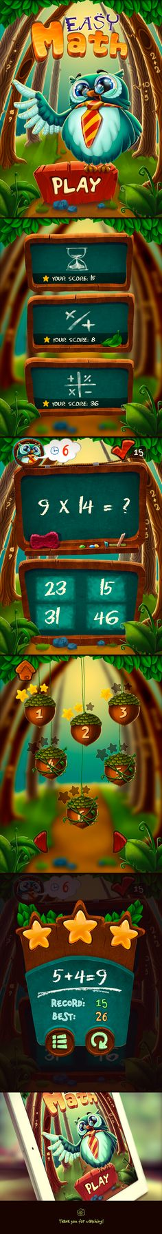 Game Easy math on Behance
