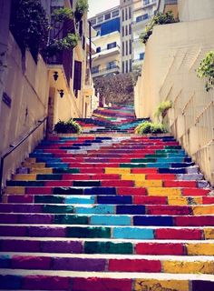 Colorful stairs @ Beirut, Lebanon.