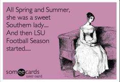 Southern girls love their LSU football!!