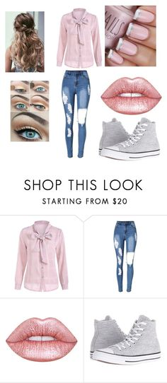 """the summer daze"" by iwenaus ❤ liked on Polyvore featuring beauty, Lime Crime and Converse"
