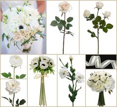#white wedding #all white #afloral http://blog.afloral.com/daily-scoop/white-rose-lisianthus-wedding-bouquet-lanas-inspiration-board/#.UWVvs5NgSSo