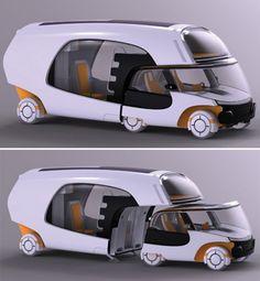 smart car + camper camping-in-style Smart Auto, Smart Car, Combi Wv, Kombi Home, Car Camper, Camper Van, Camping Car, Motorhome, Custom Cars