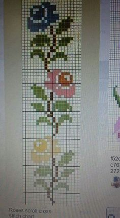 Simple Cross Stitch, Cross Stitch Flowers, Cross Stitch Designs, Cross Stitch Patterns, Embroidery Stitches, Crochet, Coloring Pages, Crafts, Cute Cross Stitch