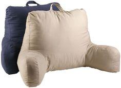 Bed Rest Pillow Navy Blue Reading TV Back Support Pillows Lounger Bedroom Dorm #BedRestPillow