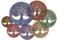 Tree of Life Wooden Laser-Engraved/Cut Wall Art by RedTailCrafters