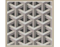 Geometric 9 - Lattice - Counted Cross Stitch Pattern (X-Stitch PDF) Thanks for visiting my store! This cross-stitch pattern was personally and lovingly designed by me! When you download this pattern, you will receive both the black and white version as well as the colorful version