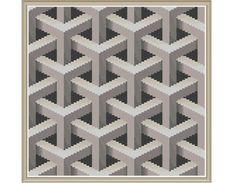 Geometric 9 Lattice Counted Cross Stitch by HornswoggleStore