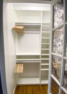 A step-by-step tutorial and budget breakdown for using IKEA Billy bookcases to customize his & her closets in a master bedroom. Ikea Closet Hack, Ikea Closet Organizer, Closet Hacks, Diy Closet Ideas, Closet Makeovers, Diy Master Closet, Closet Bedroom, Closet Paint, Closet Office