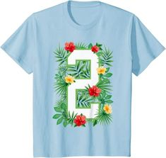 Amazon.com: Floral Number 2 Flower Two Gardener Summer Flowers T-Shirt: Clothing