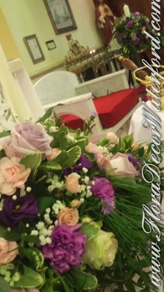 A few pics from Deirdre and George's beautiful Wedding in Slieverue, Co KK. Deirdres Bridal Bouquet was a mix of Purple, Pink and I. Church Wedding, Wedding Flowers, Bouquet, Gift Wrapping, Bridal, Plants, Pink, Beautiful, Gift Wrapping Paper