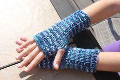 Fingerless Gloves for Kids Multi Blue and Green Soft Knit Gloves on Etsy, $15.00