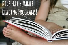 Kids Summer Reading Programs - earn books, cash, pizza, games, and MORE!!!