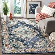 Shop for Safavieh Monaco Bohemian Medallion Navy / Light Blue Distressed Rug (3' x 5'). Get free shipping at Overstock.com - Your Online Home Decor Outlet Store! Get 5% in rewards with Club O! - 19974398