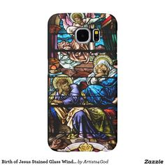 Birth of Jesus Stained Glass Window #Samsung #Galaxy S6 #Cases  Many Other Brands Available #stainedglass #Christmas #Jesus #HolyFamily #sale #Catholic #Christain #customizable #WNY #products #gifts #presents #HolyFamily #SaintJoseph #VirginMary #accessories  #phonecases #technology #mobile