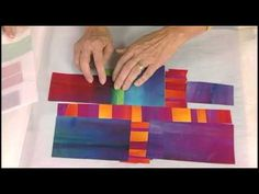 Quilting Arts Workshop - Improvisational Fused Quilt Art with Frieda Anderson and Laura Wasilowski - YouTube