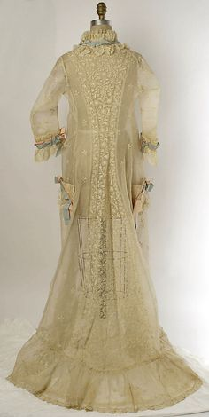 Peignoir Date: 1874–77 Culture: French Medium: cotton, silk.