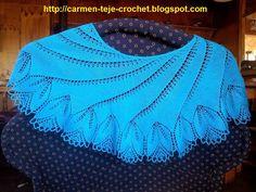 Tejiendo crochet y más...: Begonia Shawl