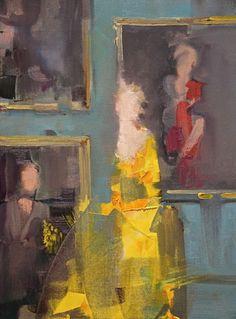 """Saatchi Art Artist: Fanny Nushka Moreaux; Oil 2014 Painting """"Yellow Taffeta, 2014 """""""