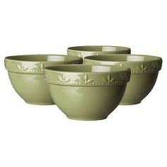 Bring rustic-inspired style to your next dinner party with this charming tabletop essential.  Product: BowlConstruction Material: StonewareColor: OreganoFeatures:  Chip resistantRaised bead and olive leaf motif31 Ounce capacity Dimensions: 6 DiameterCleaning and Care: Microwave, oven and dishwasher safeShipping: This item ships small parcelExpected Arrival Date: Between 04/16/2013 and 04/24/2013Return Policy: This item is final sale and cannot be returned