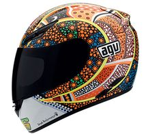 AGV Men's K3 Valentino Rossi Dreamtime Helmet Multicolor - Full Face Graphic Helmets - Helmets: Men's - Gear - SoloMotoParts.com - Motorcycle Parts, Accessories and Gear