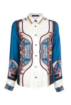ETRO Printed silk blouse €435.12  #ETRO #BLOUSE #SILK #PRINT