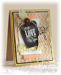 Happy Friday and thanks for stopping by to see what I have to share today. My card today was inspired by this one that Jennifer Shults poste...