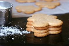 """Almond Flour Cut Out """"Sugar""""Cookies Ingredients: 2 cups fine ground blanched almond flour Scant less than 1/4 teaspoon sea salt 1/4 teaspoon baking soda 3 tablespoons coconut oil, softened or liquid (*see alternative fat subs below) 1/4 cup honey 1-2 tablespoons thick applesauce 1 tablespoon gluten free vanilla extract *Sub Ghee or Organic palm shortening …"""