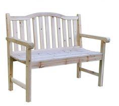 Outdoor Cedar Wood Garden Bench in Natural