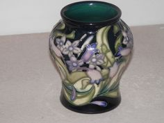 *1ST QUALITY MOORCROFT ISIS FLOWER VASE BY EMMA BOSSONS 3.25 INCH