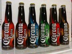 Limited Edition Corona Extra Beer Soccer 2011.  Necaxa, Toluca, Puebla, Santos, atlas & America. Back View.