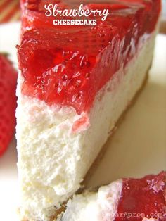 Easy Strawberry Cheesecake