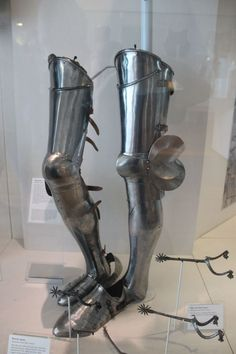15th century Italien leg armour from the Royal Armories in Leeds