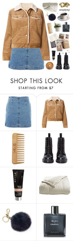 """BLUEBERRY MUFFIN"" by emmas-fashion-diary ❤ liked on Polyvore featuring Topshop, Marc Jacobs, The Body Shop, Dr. Martens, Becca, Holy Lamb Organics, MICHAEL Michael Kors and Chanel"