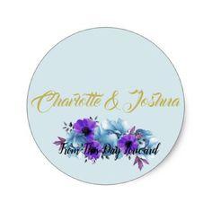 BRIDE & CO Cottage Roses Wedding Suite Stickers - engagement gifts ideas diy special unique personalize