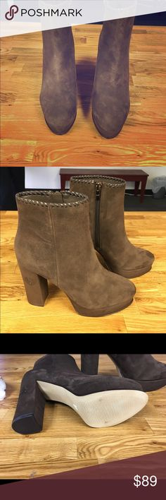 Marc Fisher Brown Suede Boots size 7 Suede booties size 7 Marc Fisher Shoes Ankle Boots & Booties