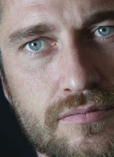 """Gerard Butler """"Whoever the photographer was for this shoot, they did a great job. It's all in those eyes."""""""