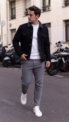 Monochrome Dressing Style For Men – 5 Outfits To Try Monochrome Dressing Style For Men – 5 Outfits To Try - Favoritt motetips Winter Outfits Men, Stylish Mens Outfits, Casual Outfits, Men Casual, Man Dressing Style, Mens Fashion Blog, Fashion Ideas, Men's Fashion, Fashion Guide