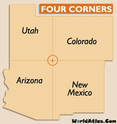Jack's bucket list: Be in 4 States at one time. (Four Corners USA: Utah, Colorado, Arizona, and New Mexico) Oh The Places You'll Go, Places To Travel, Wyoming, Idaho, Four Corners Monument, Four Corners Usa, Montana, Colorado, Arizona Travel