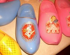 spring wooden  shoes re-do