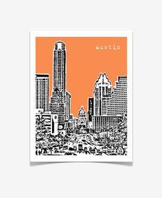 Austin, Texas Poster $20.00, via Etsy.