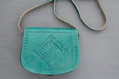 Your place to buy and sell all things handmade Leather Bags Handmade, Hand Stitching, Saddle Bags, Soft Leather, Messenger Bag, Artisan, Buy And Sell, Turquoise, Morocco
