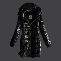 2012 Style Moncler Womens Long Coat Marcy Na Black [2899822] - £167.20 :