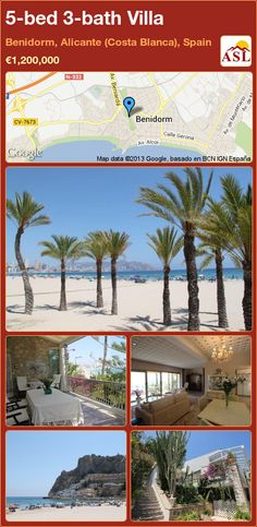 5-bed 3-bath Villa in Benidorm, Alicante (Costa Blanca), Spain ►€1,200,000 #PropertyForSaleInSpain