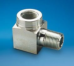 Hydraulic manifold fittings.