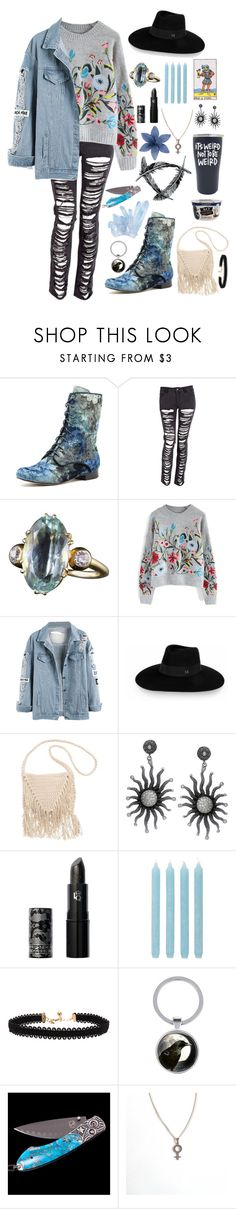"""""""blue lily, lily blue"""" by aabelyea43 ❤ liked on Polyvore featuring Chicwish, Maison Michel, Billabong, Lipstick Queen, Pier 1 Imports and Vanessa Mooney"""
