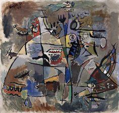 Jorn: Uden titel (Komposition) 1940 Franz Kline, Jasper Johns, Robert Rauschenberg, Willem De Kooning, Jackson Pollock, Abstract Expressionism, Abstract Art, Amsterdam, Cobra Art