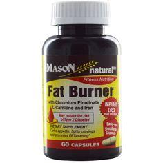 Mason Naturals, Fat Burner  with Chromium Picolinate, L-Carnitine and Iron, 60 Capsules