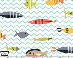 Cotillion  Somethings Fish from Michael Miller by JAQSFabrics