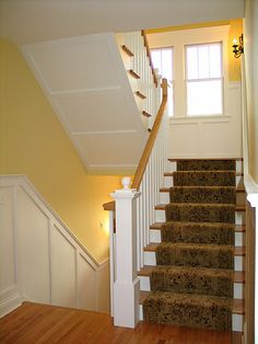 Fresh Open Staircase to Basement
