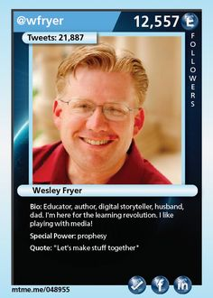 Educator, author, digital storyteller, husband, dad. I'm here for the learning revolution. I like playing with media!